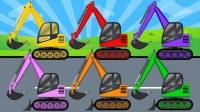 最新款挖掘机游戏视频 认识工程车 儿童游戏