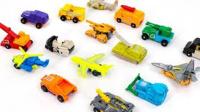 超级六强战场机器人变形金刚小型车载飞机直升机机器人变身美国人气玩具§垣垣玩具§