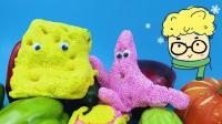 早教启蒙小猪佩奇蔬菜和颜色认知 海绵宝宝奇趣