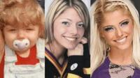WWE女子冠军小丑女阿莱克萨 一到25岁的样子 从小