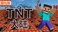 小橙子姐姐我的世界搞笑《TNT大陆》9:草方块刷牛无中生有minecraft
