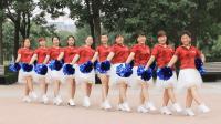 大妈们跳啦啦队的水准都可以赶上国际范啦! 花球变队形啦啦操《A4腰》一瓶原创广场舞
