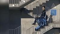 这轮椅还能爬楼梯
