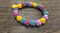 """3分钟学会""""菠萝结"""", 自己手工DIY精美的手链项链和耳环!"""