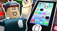 【iphone逃生模拟器】苹果手机内部大揭密! 爆笑愤怒的小鸟闯关! 乐高小游戏Roblox小格解说