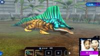 侏罗纪世界游戏第300期锯齿螈 异齿龙 VIP独家战斗笑笑小悠解说恐龙公园