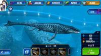 侏罗纪世界游戏第428期:沧龙和巨齿鲨★恐龙公园