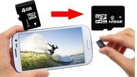 手机内存不够用, 只需一招内存卡4GB秒变128GB