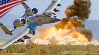 美军A-10攻击机-复仇者30毫米加特林机炮-激光制导炸弹-对地支援训练