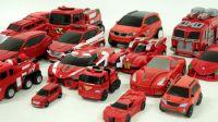 红色变形金刚斗龙战士托宝兄弟超级变形金刚最强战士迷你特工队机器人【俊和他的玩具们