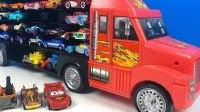 风火轮汽车模型大卡车装载闪电麦昆去比赛 彩虹