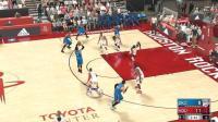 【NBA2K17完整比赛】周琦火箭 VS 保罗乔治雷霆(名