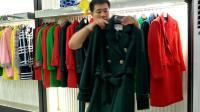 杭州纳雯服饰专柜品牌女装尾货批发走份羽沙国际冬装时尚韩版呢大衣宽松型