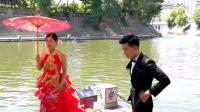西安南门外护城河拍婚纱 古护城河古城墙 新娘子新郎官
