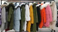 阿邦女装批发-女士时尚轻薄型冬装长款羽绒服带真毛领支持零售5件起批--754期