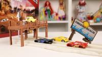 赛车总动员3极速挑战 火球海滩训练双轨赛道玩具分享 20