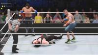 二对二最快的一次比赛, 塞纳+AJ VS 毁灭兄弟 WWE