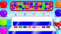 玩糖果机出来不同颜色的糖果学习颜色 ABC早教