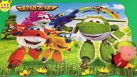 小猪佩奇拼超级飞侠拼图玩具 134