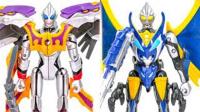 水晶战士黑老虎VS天使老虎 天装战队护星者变形金刚机器人组合合体玩具§垣垣玩具