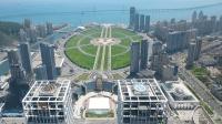 航拍世界最大城市广场大连星海广场 无人机飞最高都没看到全貌