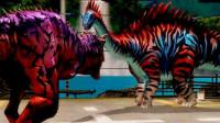 侏罗纪世界第39期 霸王龙 梁龙 甲龙 恐龙花园 战狼组合 恐龙联盟 一品带屌将军