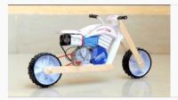 达人手工制作一台超酷摩托车, 真心佩服这动手能力!