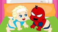 冰雪奇缘爱莎公主 早教动画 儿童教育卡通 蜘蛛侠