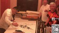 中国指画艺术大师任刚和赵本山老师合作现场直播