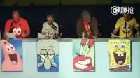 《海绵宝宝》的原版配音幕后大神们,在动漫展现场为动画配音。满满的画面感!