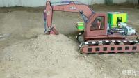 如何用纸板、注射器、小电机做一个全自动的挖掘机