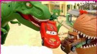 恐龙世界霸王龙破坏乐高城市 奥特曼迪迦救援
