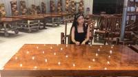 匠人的品质, 豪华名贵实木家具, 总有适合你的巴花大板桌