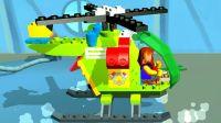 阿克叔游戏 乐高玩具拼装 警用直升机出场试飞_1080p