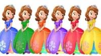 小公主苏菲亚益智着色识颜色 迪士尼公主