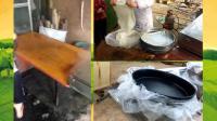 小型凉皮机 乐和圆形蒸汽凉皮机配备不锈钢圆盘 不粘面圆盘
