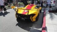 街头吸睛 街拍黄色涂装迈凯伦P1 GTR