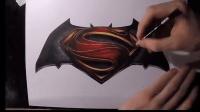 手绘名厂标识, 看后浑身舒服, 蝙蝠侠和超人的结合帅爆了!