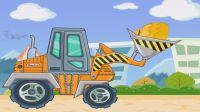 汽车赛车总动员恐龙拖拉机 挖掘机工程车视频28 吊车推土机 变形恐龙机器人组装