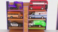 亮亮玩具学习颜色、学英语, 立体停车场、飞机汽车跳水游戏动画, 宝宝、亲子早教育儿视频
