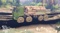 亚当熊 旋转轮胎, 开卡玛兹卡车将木材运到大本营