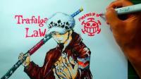 不愧是职业漫画家, 看日本漫画家吉村拓也一笔画出海贼王角色罗!