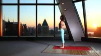 3分钟美女教你简单的瑜伽动作, 有效拉伸背部肌肉
