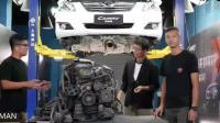 一台跑了40万公里的丰田凯美瑞发动机是什么样的。