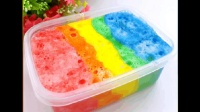 彩虹棉花泥, 史莱姆制作, 好看的slime才更加好玩