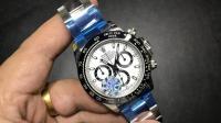 腕表刻度: JF劳力士宇宙时计迪通拿白面陶瓷表圈40毫米7750自动机械计时机芯