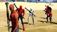 GTA5五个蜘蛛侠崛起 超级英雄大闹都市 侠盗猎车手5蜘蛛侠MOD