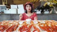 大胃王朵一吃蟹腿, 能吃多少才能饱呀? 害怕!