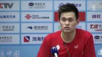 孙杨全运会之后采访, 希望记者多关注一下运动员中的新生力量