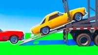 米老鼠和蝙蝠侠开车撞到足球不慎翻车 蜘蛛侠闪电麦昆
